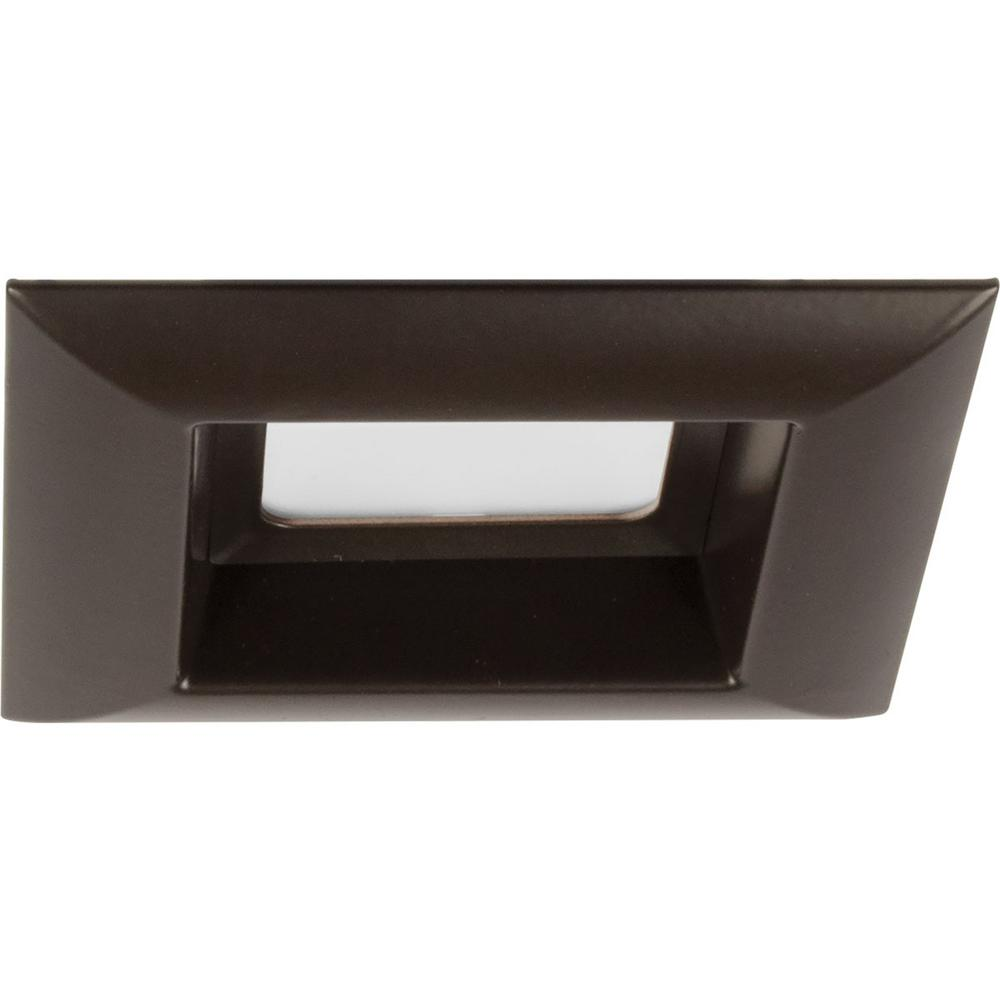 Retrofit Square Collection 4 in. Antique Bronze Integrated LED Recessed Trim