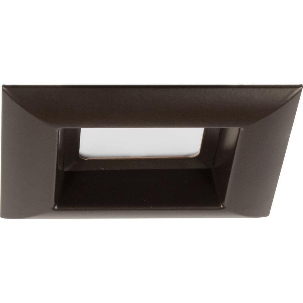 Retrofit Square Collection 4 in. Antique Bronze Integrated LED Recessed Trim