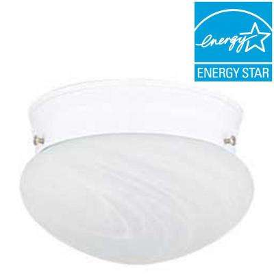 Furby 1-Light White Flushmount