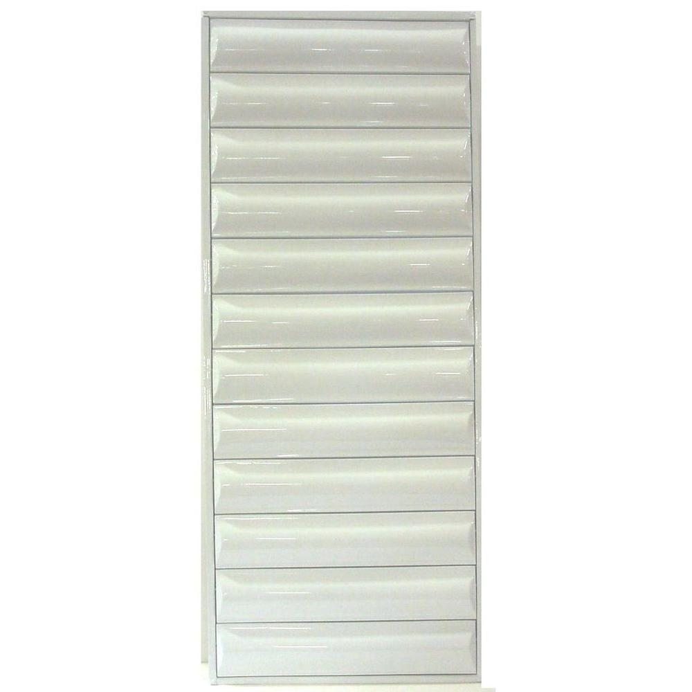36 in. x 58.375 in. Titan Light Duty All Louver Awning