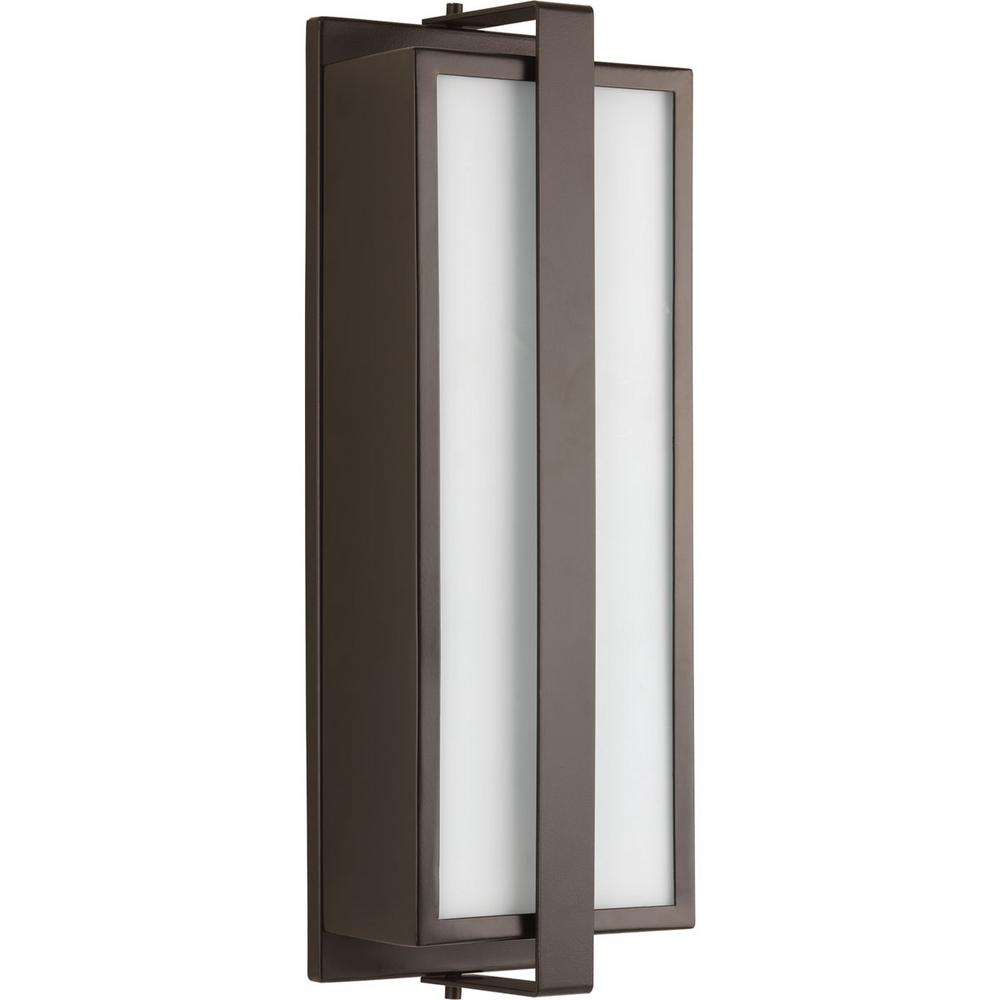 Diverge Collection 2-Light Architectural Bronze Outdoor Wall Lantern