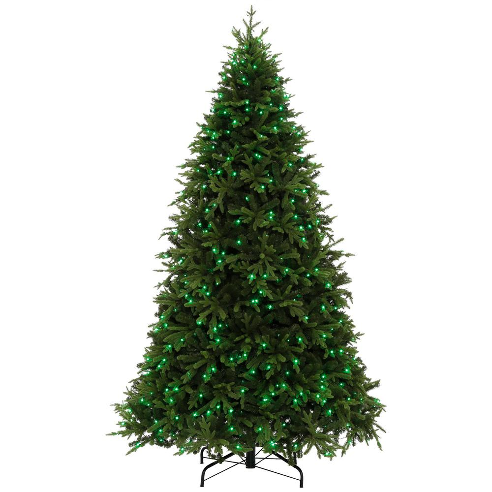 Pre Lit 9 Ft Christmas Tree: 9 Ft. Pre-Lit LED Swiss Mountain Spruce Artificial