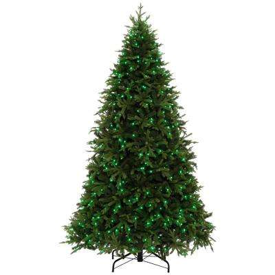 9 ft. Pre-Lit LED Swiss Mountain Spruce Artificial Christmas Tree with 600 Twinkly App Lights