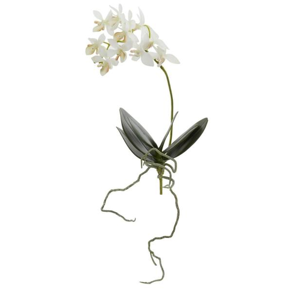 Nearly Natural Indoor 13 in. Mini Orchid Phalaenopsis Artificial Flower (Set