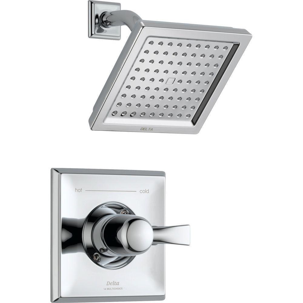 Dryden 1-Handle 1-Spray Raincan Shower Faucet Trim Kit in Chrome (Valve Not Included)