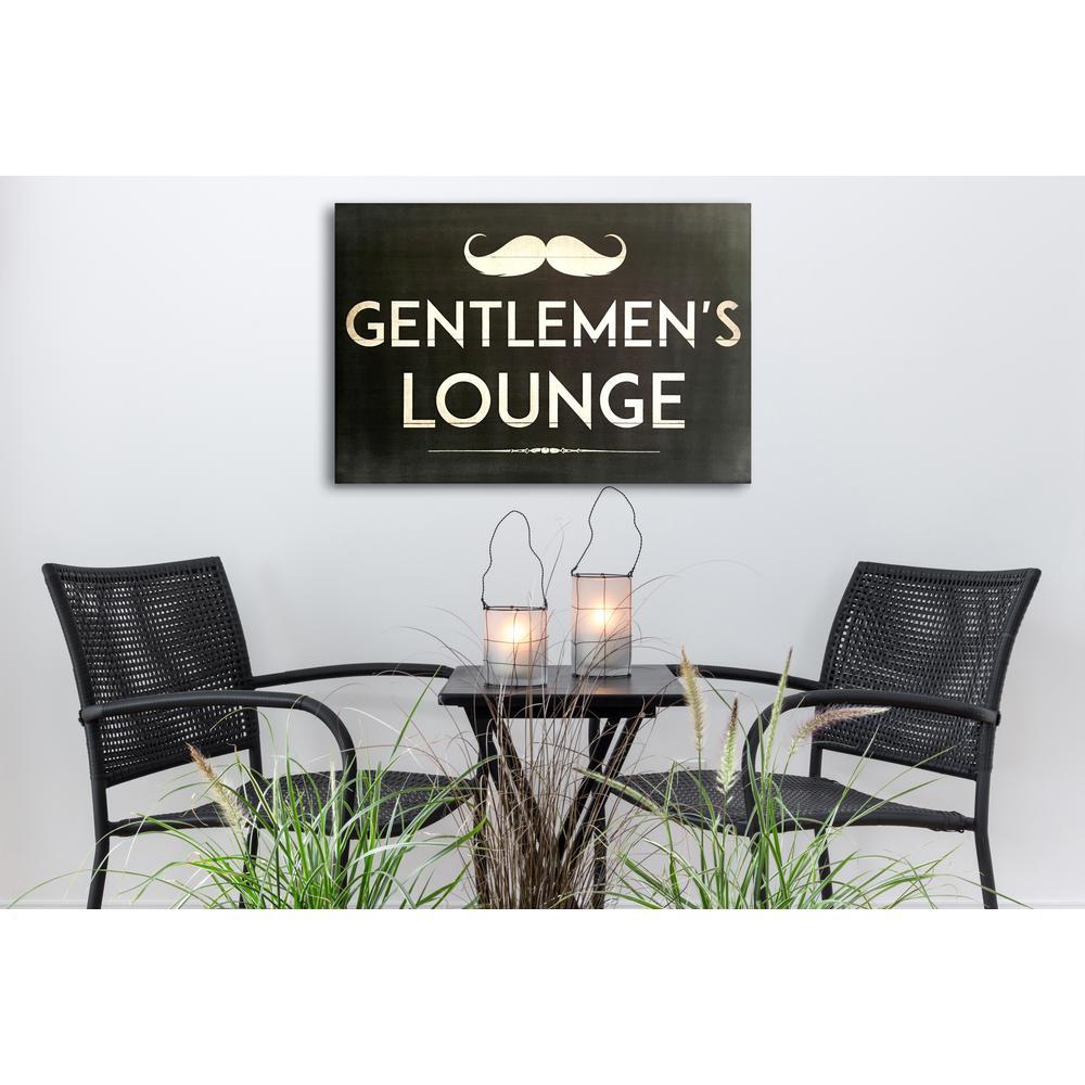"20 in. x 30 in. ""Gentleman""s Lounge"" By Wynwood Studio Wood Wall Art"