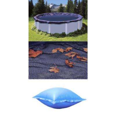 18 ft. L x 18 ft. W Round Above Ground Pool Leaf Net Plus Closing Air Pillow Plus Pool Leaf Cover