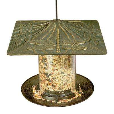 Dragonfly 6 in. French Bronze Tube Bird Feeder