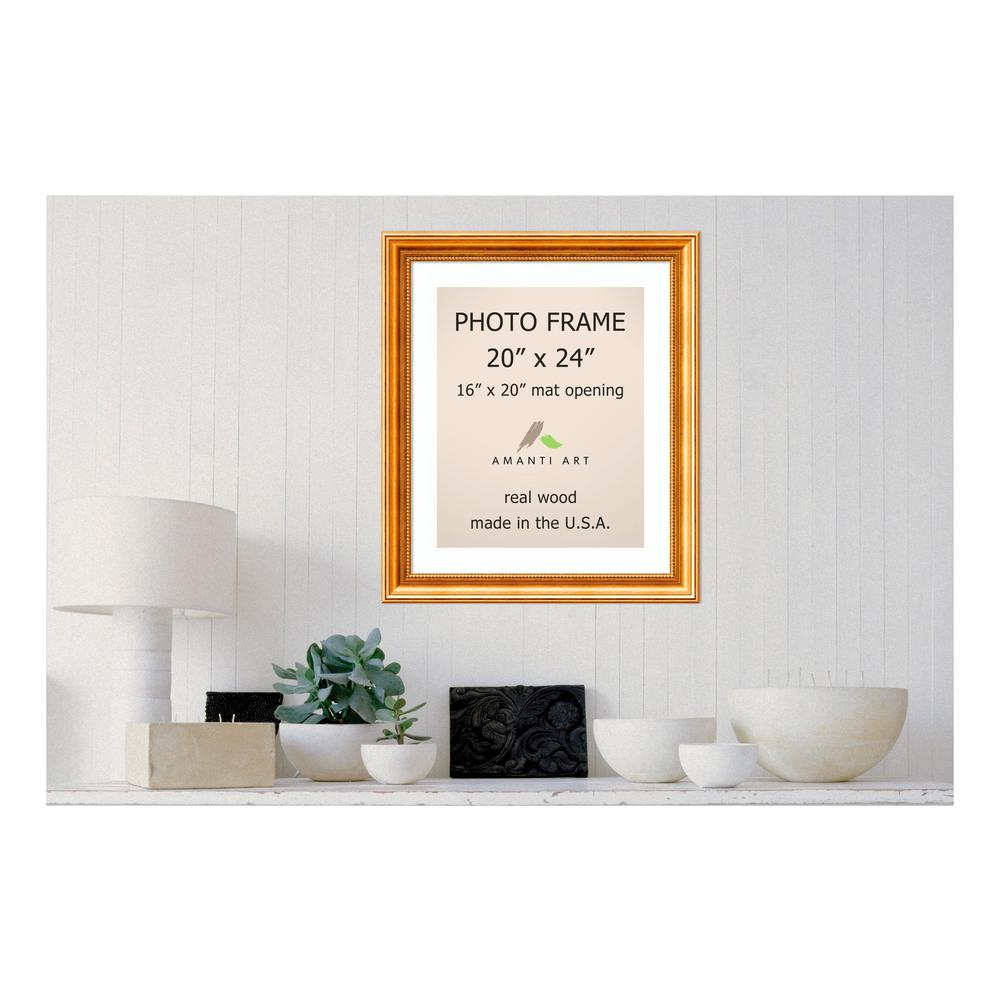 Amanti Art Townhouse 16 In X 20 In White Matted Gold Picture Frame