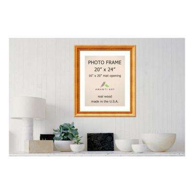 Townhouse 16 in. x 20 in. White Matted Gold Picture Frame