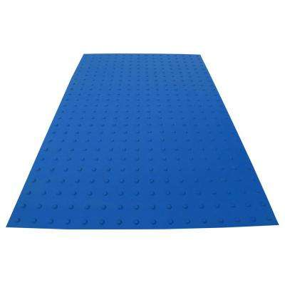 PowerBond 36 in. x 5 ft. Blue ADA Warning Mat (Peel and Stick)