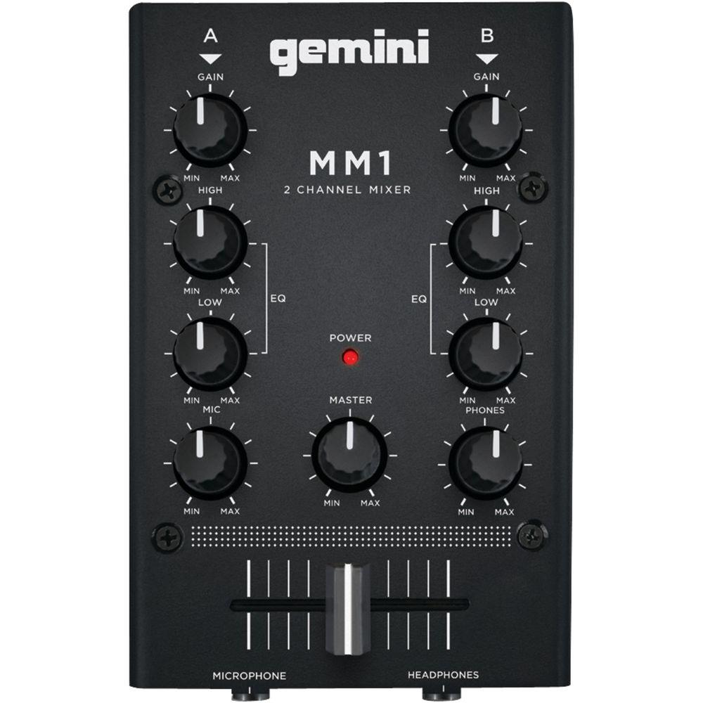 Gemini 2-Channel Analog Mini DJ Mixer