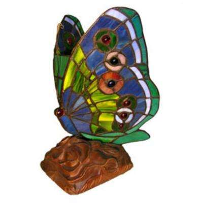 10 in. Butterfly Green Accent Lamp