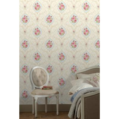 Annabelle Blue Cameo Wallpaper