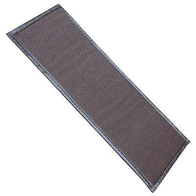 Brown 32 in. x 13 in. Boot Mat