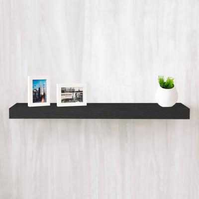 Positano 36 in. x 2 in. zBoard Paperboard Wall Shelf Decorative Floating Shelf in Black