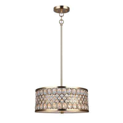 Baillie 3-Light Soft Gold Chandelier with Crystal Shade