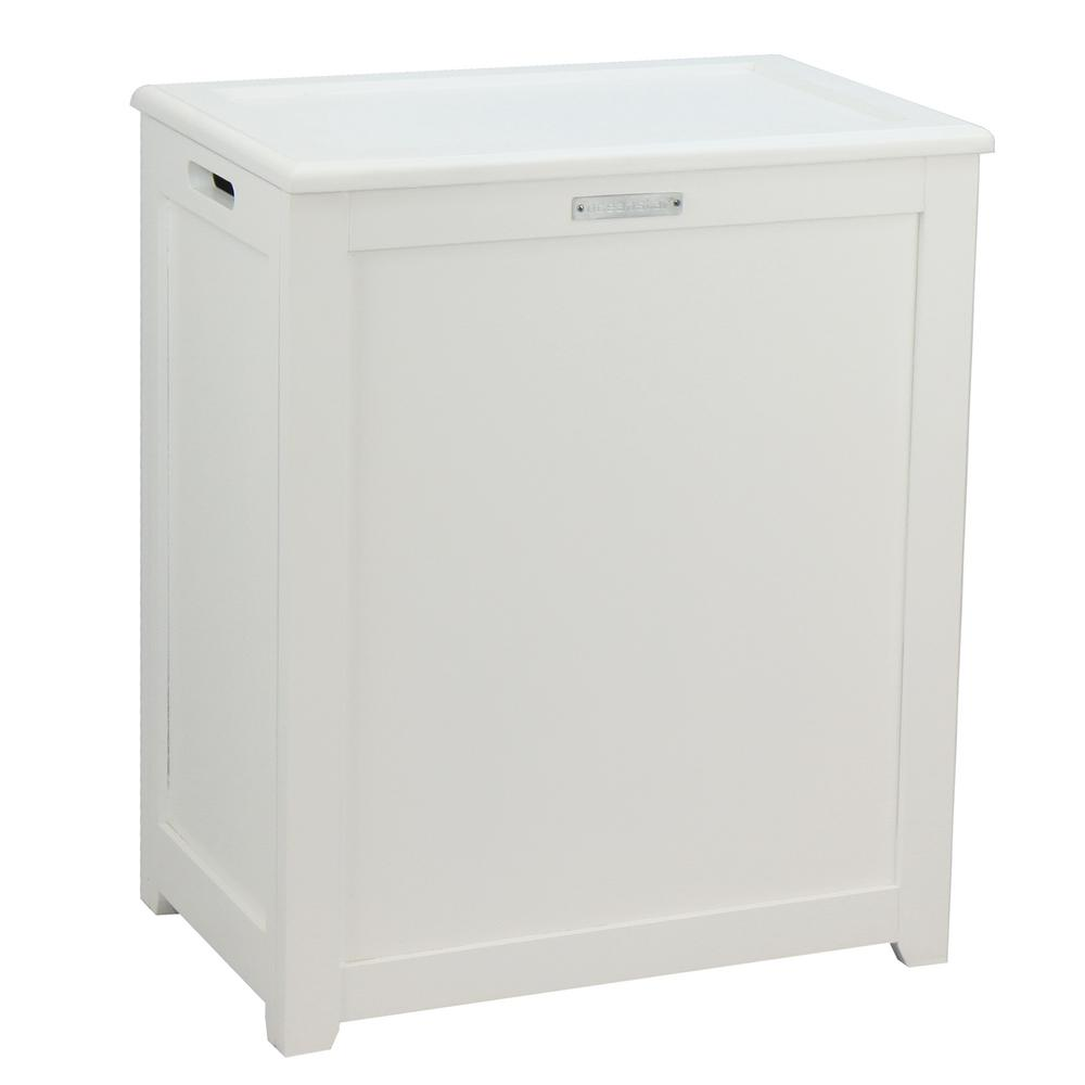 Storage Laundry Hamper in White