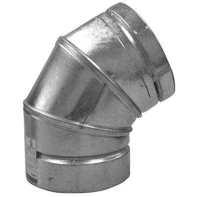 4 in. B-Vent 45-Degree Round Adjustable Elbow