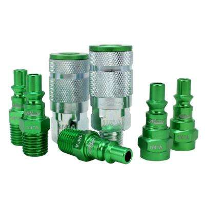 ColorFit by Milton Coupler and Plug Kit A-Style Green 1/4 in. NPT (7-Piece)