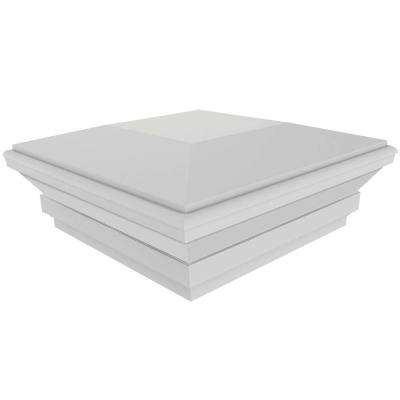 5 in. x 5 in. White Vinyl Contemporary Post Top