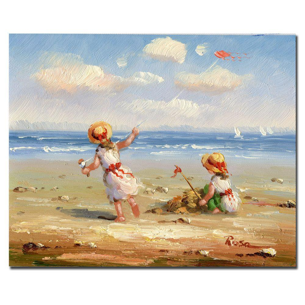 26 in. x 32 in. At the Beach I Canvas Art