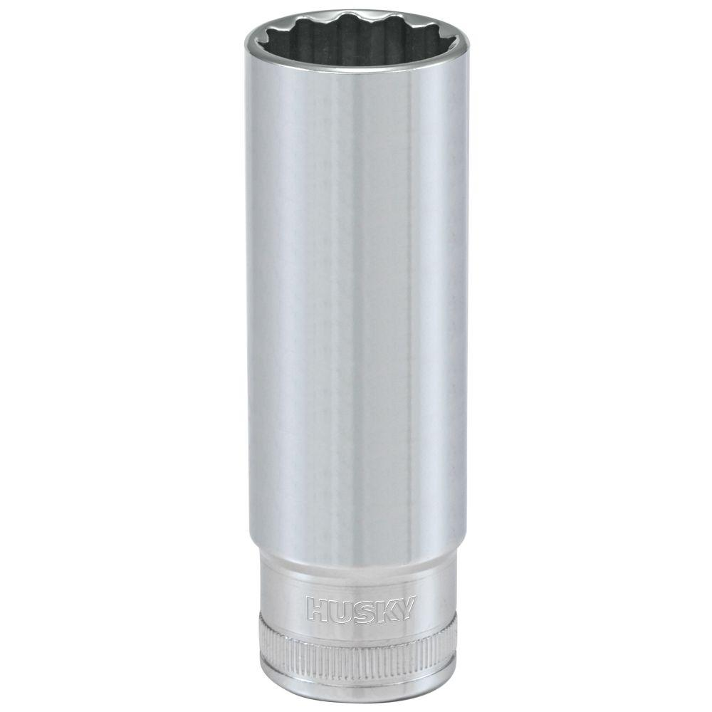 Husky 1/2 in. Drive 18 mm 12-Point Metric Deep Socket