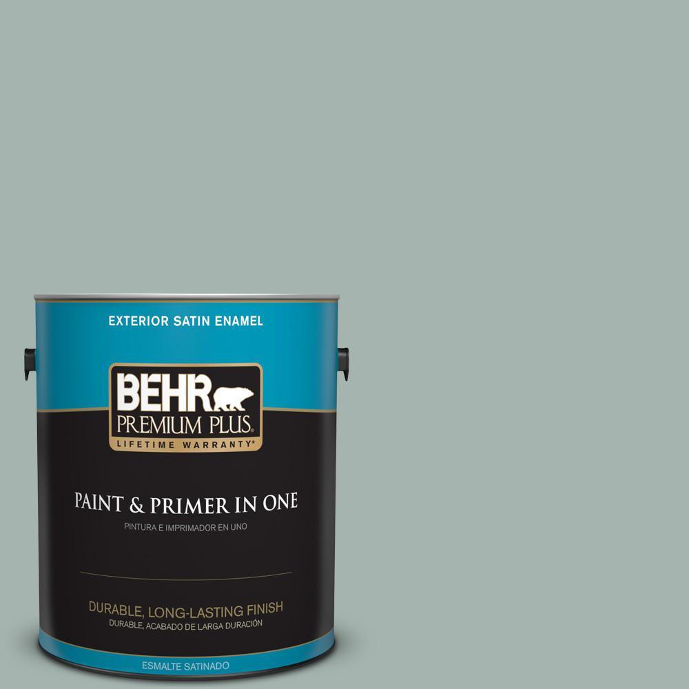 1 gal. #PPU12-09 Frozen Pond Satin Enamel Exterior Paint