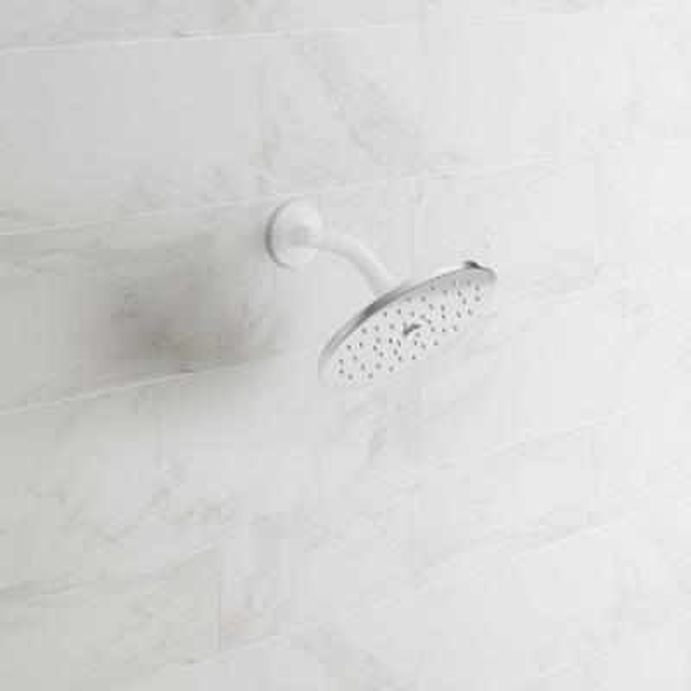 Waterhill 1-Spray 10 in. Single Wall Mount Fixed Shower Head in Chrome
