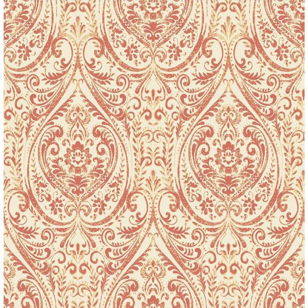 c1f783e5b3 A-Street Gypsy Coral Damask Wallpaper 1014-001867 - The Home Depot