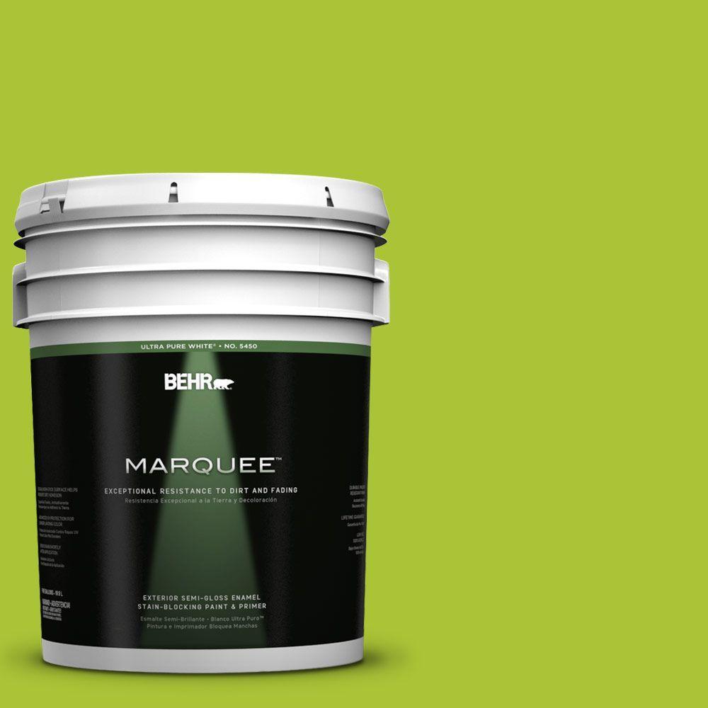 5-gal. #410B-6 Crisp Green Semi-Gloss Enamel Exterior Paint