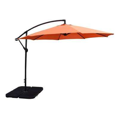10 ft. Cantilever Tilt Umbrella in Burnt Orange