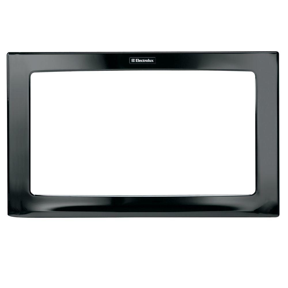 30 in. Trim Kit for Built-In Microwave Oven in Black
