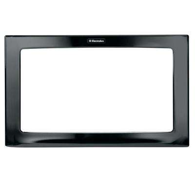30 in. Trim Kit for Built-In Microwave Oven in Black