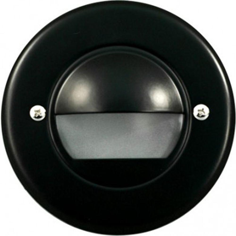 Ashler 15-Light Black Outdoor LED Recessed Step Light