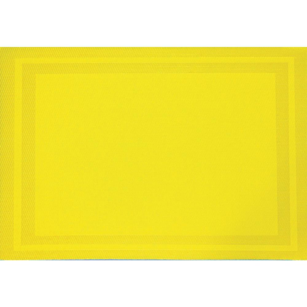 Lemon Yellow Basket Weave Placemat (Set of 8)