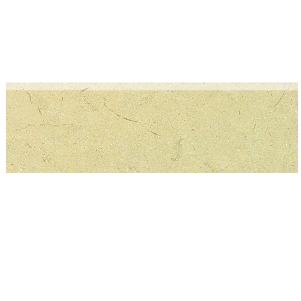 Marissa Crema Marfil 3 in. x 10 in. Ceramic Bullnose Wall Tile