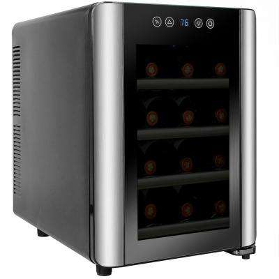 12-Bottle Single Zone Thermoelectric Wine Cooler in Stainless Steel with Touch Controls