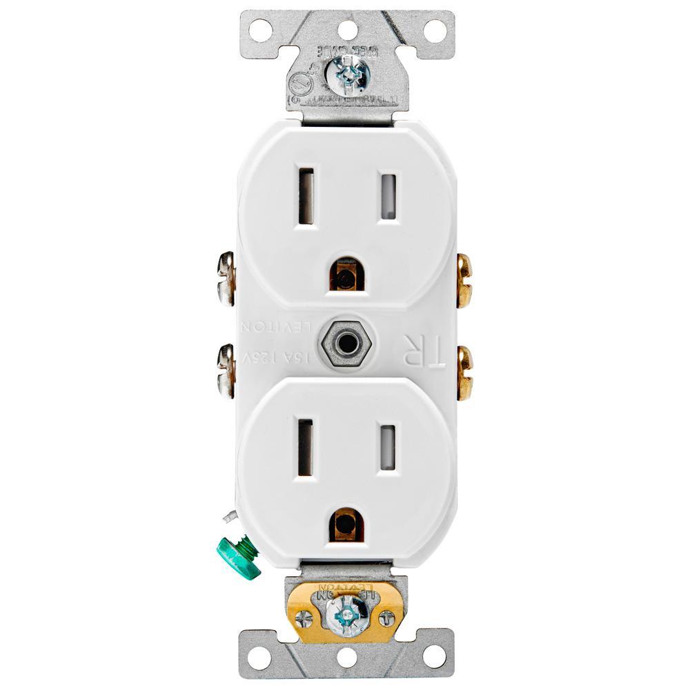 Groovy Leviton 15 Amp Commercial Grade Tamper Resistant Duplex Outlet Wiring Database Gramgelartorg