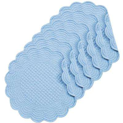 Sky Blue Round Placemat (Set of 6)