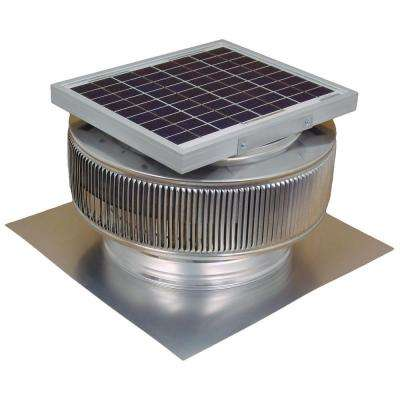 740 CFM Mill Finish 10-Watt Solar Powered 12 in. Dia Roof Mounted Attic Exhaust Fan