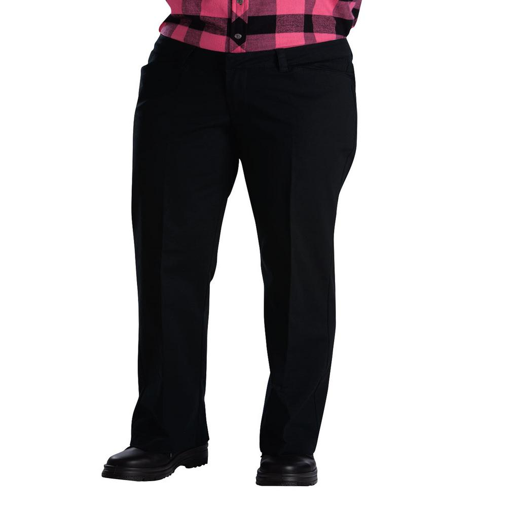 8e6b0976ccd9ce Dickies WoMen's 26 in. Black Relaxed Straight Stretch Twill Pants ...