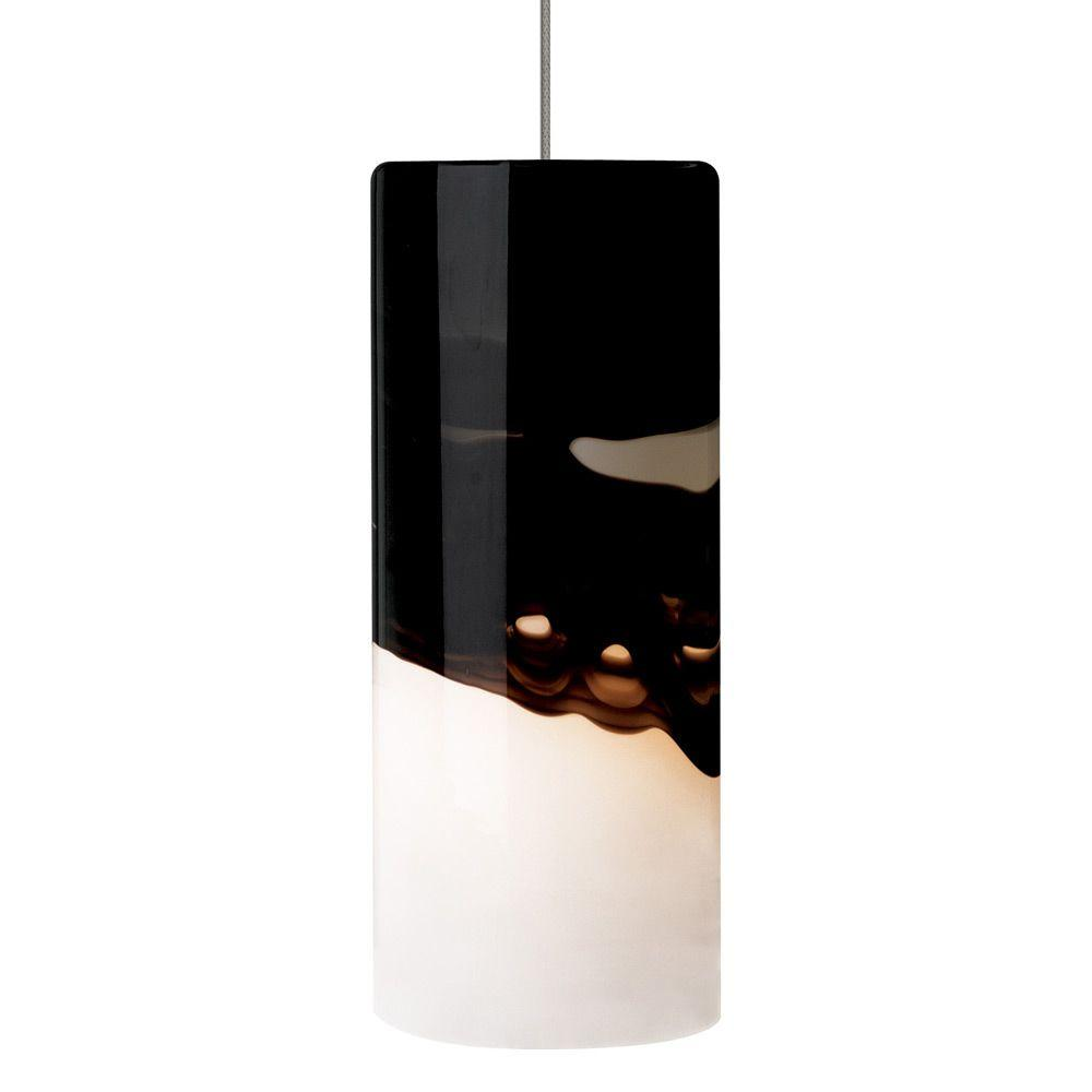 LBL Lighting Rio 1-Light Bronze LED Mini Pendant with Gray/Purple Shade