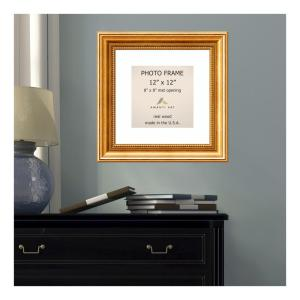 Amanti Art Townhouse 8 inch x 8 inch White Matted Gold Picture Frame by Amanti Art