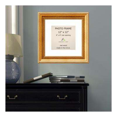 Townhouse 8 in. x 8 in. White Matted Gold Picture Frame