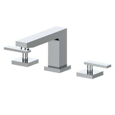 Crystal Bay 8 in. Widespread 2-Handles Bathroom Faucet in Chrome