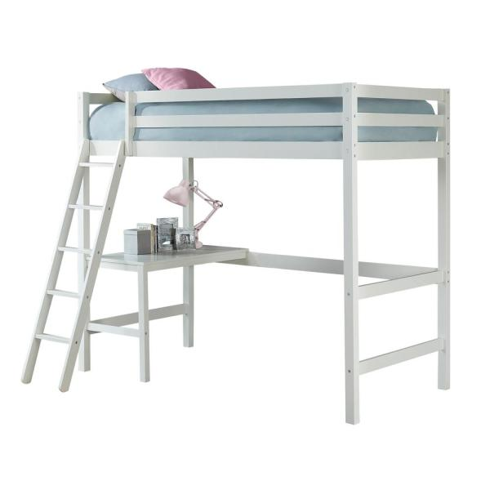 Hillsdale Furniture Caspian White Twin Study Loft