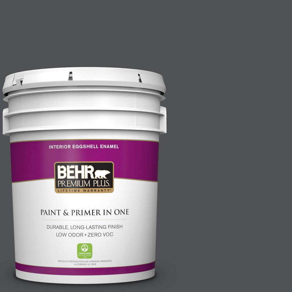 5 gal. #BXC-30 Black Space Zero VOC Eggshell Enamel Interior Paint