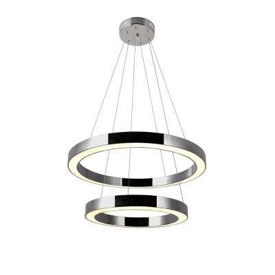 Ringer 62-Watt Integrated LED Polished Nickel Chandelier