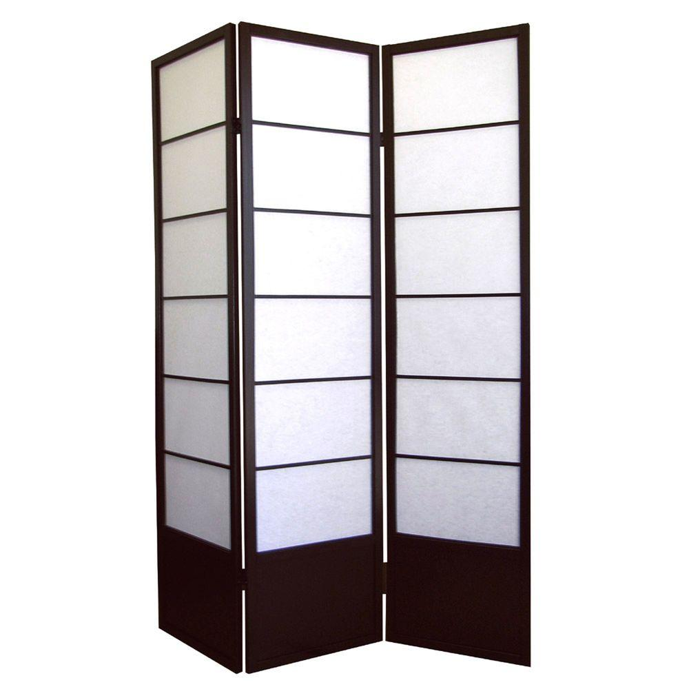 583 Ft Espresso 3 Panel Room Divider R5419 The Home Depot